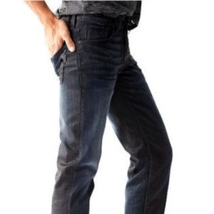 GUESS Slim Straight Coated Jeans in Conquest Wash